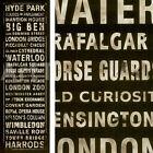 "16W""x48H"" TRANSIT LONDON BLACK by IHD STUDIO 3 WIMBLEDON BRIDGE BIG BEN CANVAS"
