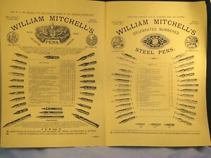 2X DIP PEN NIB NIBS CATALOGUE PHILIP POOLE ANTIQUE CALLIGRAPHY MITCHELL PERRY