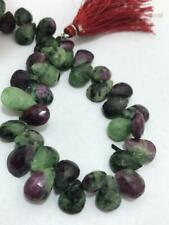 Ruby zoisite Faceted Briolette Pears 8 to 12 mm Gemstone Beads Handmade Jewelry