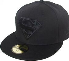 New Era Superman Black On Black 59fifty Fitted Cap DC Comics Limited Edition