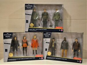 DOCTOR WHO FIGURES FRIENDS OF THIRTEENTH 3rd & 4th U.N.I.T. 1971 CLAWS OF AXOS