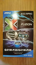 MSI g41m-p28, g41m-p26, ms-7592, Big Bang, Fuzion, User Guide, manual