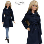 FAO-064 jeans navy trench T-shirt outfit for Barbie MTM and similar 12''dolls