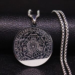Witchcraft Necklace Stainless Steel Pendant Pentagram Jewelry Magic Chain Star