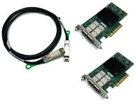 25G Netzwerk Kit 2x Mellanox ConnectX-4 LX 25 Gigabit NIC GBe +3m SFP28 Kabel LP