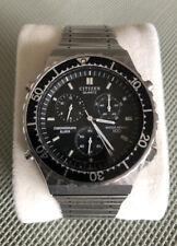 Vintage Citizen Quartz 3530 Alarm Chronograph Uhr Watch Rar