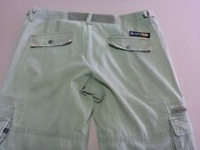 096 WOMENS EX-COND RUSTY S/POCKET LOOSE FIT KHAKI WASH CARGO PANTS 12 $100 RRP.