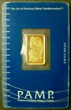 5 GRAM PURE .9999 GOLD BAR  - LADY FORTUNA  - OLD STYLE - IN ASSAY. LIMIT ONE