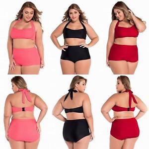 Women Bikini High Waist Curvy Plus Size Swimwear
