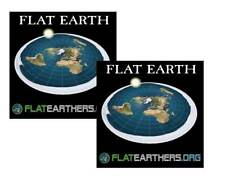 2 Flat Earth Map Sticker- Flat Earth Bumper Sticker- Flat Earthers & Free Ebook