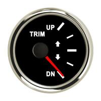 Boat Trim Gauge Meter Marine Trim Tilt Gauge for Outboard Engine 52mm 0-190ohms
