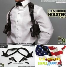 MG Toys 1/6 Mens Black Shoulder Holster Set For John wick Hot Toys Phicen ❶USA❶