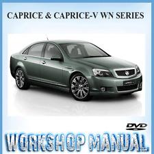 HOLDEN CAPRICE CAPRICE-V WN SERIES 2013-2015 WORKSHOP SERVICE MANUAL ~ DVD