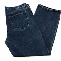 Faded Glory Denim Jeans Mens 42X32 Blue Straight Leg Relaxed Fit Washed 5 Pocket