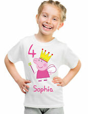Personalized Custom Childrens Princess Peppa Pig Birthday T-Shirt