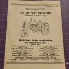 Co-op E3 standard & row crop Tractor Operator's Manual/instructions reprint