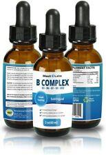 B Complex Liquid B12 Sublingual for Healthy Hair, Skin, Nails, Increased Energy