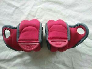 Reebok ThumbLock Wrist Weights 2- 2lb Easy Grip Red/Gray