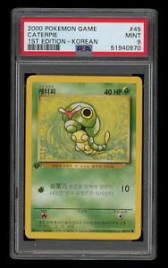 2000 Pokemon Korean 1st Edition Base Set 45 Caterpie PSA 9 MINT