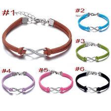 HOT 6Pcs mix Infinity leather Bracelet Faux Suede Friendship Eternal Love@8