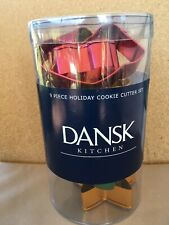 Pre-owned Dansk Metal Set 12 Large Christmas Cookie Cutters Original Container