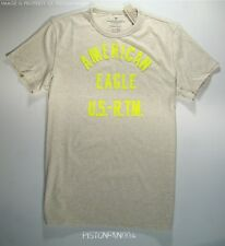 American Eagle Mens Beige Heather Applique T Shirt SMALL NWT