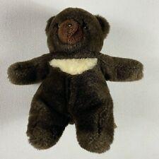 "Gund Plush Bear VTG 1982 Stuffed 9"" Teddy Dark Brown Cream Chest Animal Toy Gift"