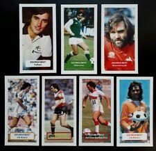 GEORGE BEST Fulham Hibernian AFCB NASL Group of 7 Score UK football trade cards