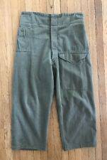 1955 British Army Issue Selvedge Denim Overalls Battledress Trousers Uniform