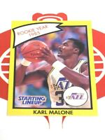Starting Lineup Player Card KARL MALONE Utah Jazz 1990 Kenner 1985 Rookie Year