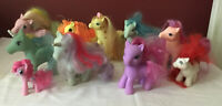 Vintage 1980s Lot Of 10 My Little Pony Figures