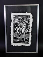 expressiver Holzschnitt SPAIN - EL ARPONERO - Auflage 3/5 signiert, datiert 1921