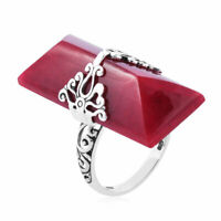 925 Sterling Silver Sponge Coral Stylish Cocktail Ring Jewelry Gift for Women