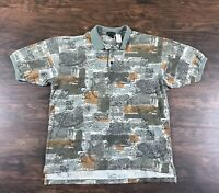 Vintage Nike Golf Short Sleeve Polo Shirt Mens Size XXL 2X 90s Abstract Pattern