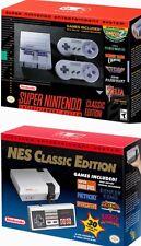 Nintendo Entertainment System: NES and SNES Classic Edition Bundle
