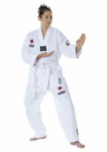 Taekwondo Anzug, DAX Poomsae, Dobok, weißes Revers