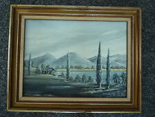 AUSTRALIAN WINTER LANDSCAPE Original Oil Painting by Australian Artist L Maden