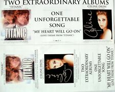 "Celine Dion ""Titanic & Let'S Talk About Love"" 2-Sided U.S. Promo Poster / Banner"