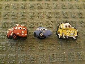 Lot of 3 Cars Movie shoe charms for Crocs shoes Other uses Craft, Scrapbook