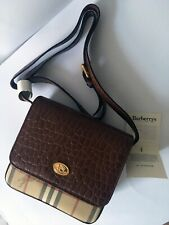 cf995ead5 Burberry Leather & Vintage Check Crossbody Bag - 100% Authentic BNWT  Collectible