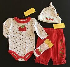 NWT Gymboree How Does Your Garden Grow 0-3 Tomato Bodysuit Pants Hat & Socks