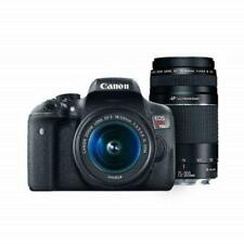 Canon Digital SLR Camera Kit [EOS Rebel T6]-EF-S 18-55mm  EF 75-300mm Zoom-Black