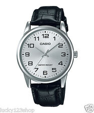 MTP-V001L-7B Casio Men Watch Geunine Leather Band Brand New