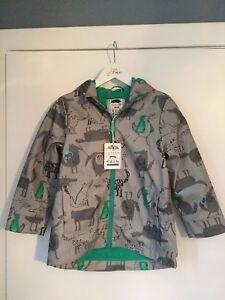 Grey Boys Fleece Lined Wolves Skipper Raincoat - Joules - RRP £44.95
