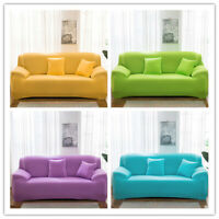Solid 1/2/3/4 Stretch Sofa Covers 4 Seater Set Couch Cover Slipcovers Protector