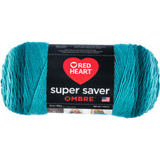 Red Heart Super Saver Ombre Yarn - Deep Teal 283g