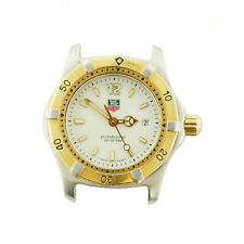 TAG HEUER WK1320 PROF WHITE DIAL 2-TONE S.S. LADIES WATCH HEAD FOR PARTS/REPAIRS