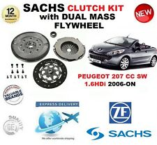 FOR PEUGEOT 207 CC SW 1.6 HDi CLUTCH KIT 2006-ON SACHS KIT w FLYWHEEL & BOLTS