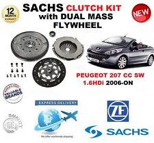Für Peugeot 207 cc Sw 1.6 Hdi Kupplungssatz 2006-on Sachs Set mit Schwungrad &