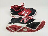New Balance Mens US 12.5 EUR 47 Black Red Baseball Shoes (T4040BR3)
